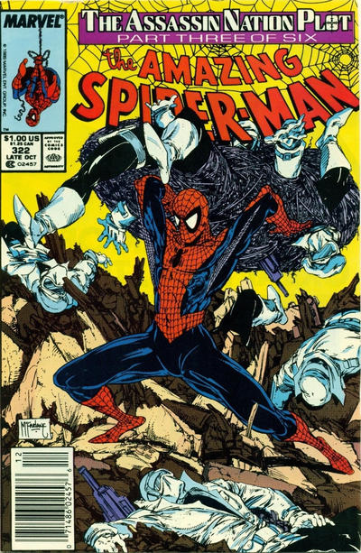 Cover for The Amazing Spider-Man (Marvel, 1963 series) #322 [Direct]