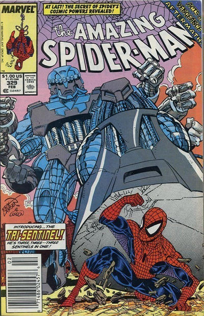 Cover for The Amazing Spider-Man (Marvel, 1963 series) #329 [Newsstand]