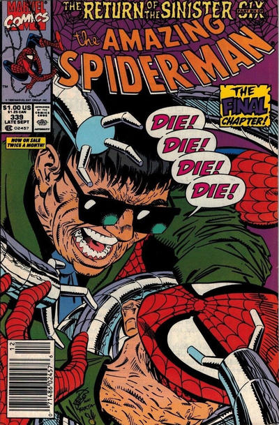 Cover for The Amazing Spider-Man (Marvel, 1963 series) #339 [Newsstand]