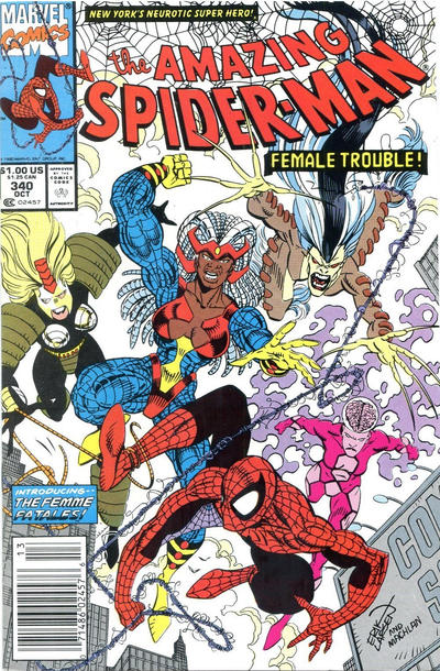 Cover for The Amazing Spider-Man (Marvel, 1963 series) #340 [Direct]