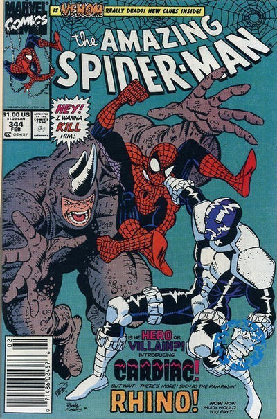 Cover for The Amazing Spider-Man (Marvel, 1963 series) #344 [Direct]