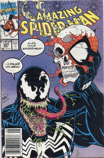 Cover for The Amazing Spider-Man (Marvel, 1963 series) #347 [Newsstand]