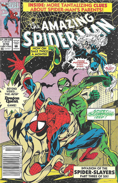 Cover for The Amazing Spider-Man (Marvel, 1963 series) #370 [Direct]