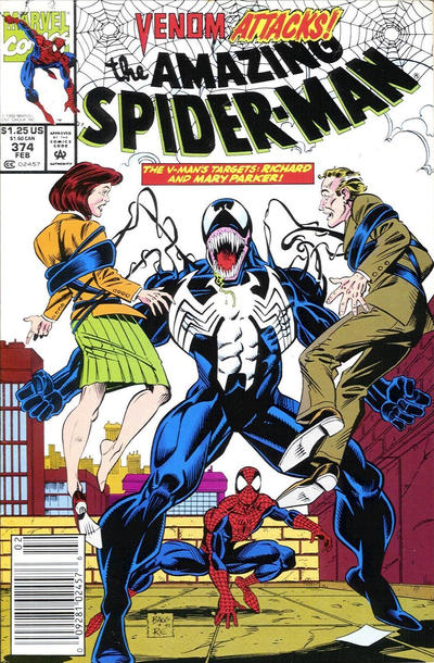 Cover for The Amazing Spider-Man (Marvel, 1963 series) #374 [Direct]