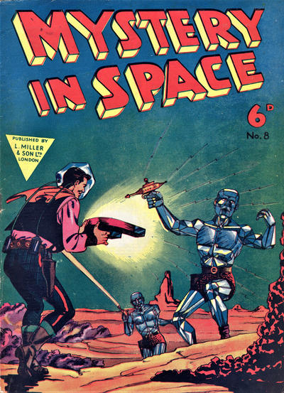 Cover for Mystery in Space (L. Miller & Son, 1955 ? series) #8
