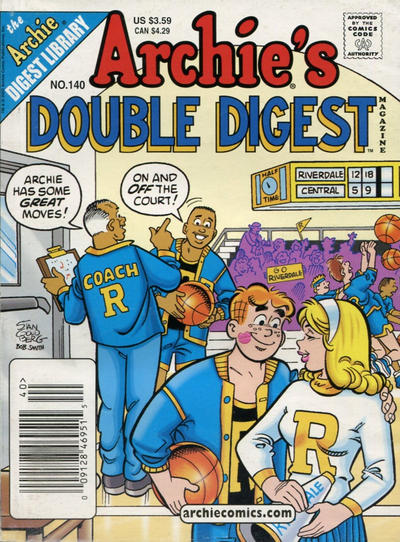 Cover for Archie's Double Digest Magazine (Archie, 1984 series) #140 [Newsstand]