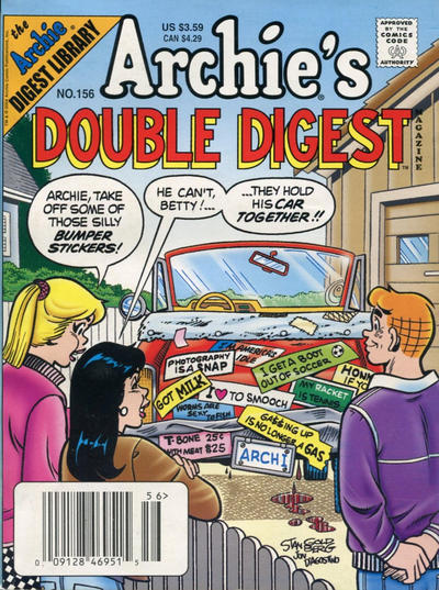 Cover for Archie's Double Digest Magazine (Archie, 1984 series) #156 [Direct Edition]