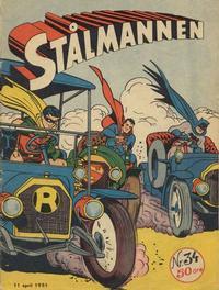 Cover Thumbnail for Stålmannen (Centerförlaget, 1949 series) #34/1951