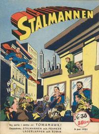 Cover Thumbnail for Stålmannen (Centerförlaget, 1949 series) #38/1951