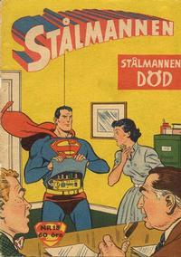 Cover Thumbnail for Stålmannen (Centerförlaget, 1949 series) #18/1957