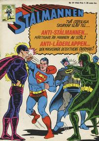 Cover Thumbnail for Stålmannen (Centerförlaget, 1949 series) #19/1966