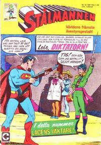 Cover Thumbnail for Stålmannen (Centerförlaget, 1949 series) #22/1967