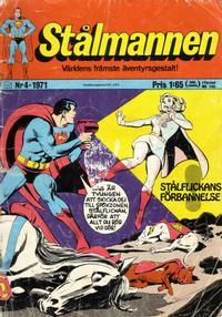 Cover Thumbnail for Stålmannen (Williams Förlags AB, 1969 series) #4/1971