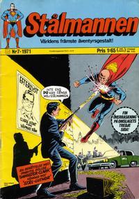 Cover Thumbnail for Stålmannen (Williams Förlags AB, 1969 series) #7/1971