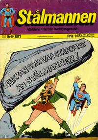 Cover Thumbnail for Stålmannen (Williams Förlags AB, 1969 series) #9/1971