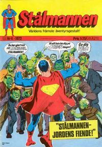 Cover Thumbnail for Stålmannen (Williams Förlags AB, 1969 series) #4/1972