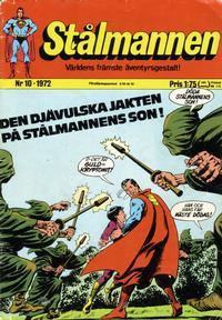 Cover Thumbnail for Stålmannen (Williams Förlags AB, 1969 series) #10/1972