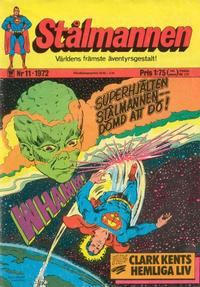 Cover Thumbnail for Stålmannen (Williams Förlags AB, 1969 series) #11/1972
