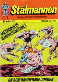 Cover Thumbnail for Stålmannen (Williams Förlags AB, 1969 series) #12/1972