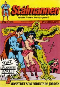 Cover Thumbnail for Stålmannen (Williams Förlags AB, 1969 series) #5/1973