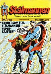 Cover Thumbnail for Stålmannen (Williams Förlags AB, 1969 series) #8/1973