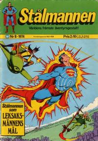 Cover Thumbnail for Stålmannen (Williams Förlags AB, 1969 series) #8/1974