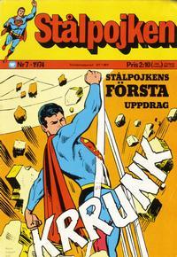 Cover Thumbnail for Stålpojken (Williams Förlags AB, 1969 series) #7/1974