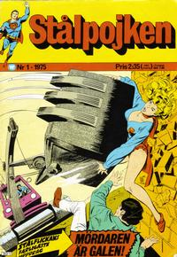 Cover Thumbnail for Stålpojken (Williams Förlags AB, 1969 series) #1/1975