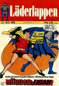 Cover Thumbnail for Läderlappen (Williams Förlags AB, 1969 series) #3/1970