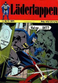 Cover Thumbnail for Läderlappen (Williams Förlags AB, 1969 series) #11/1971