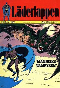 Cover Thumbnail for Läderlappen (Williams Förlags AB, 1969 series) #5/1972