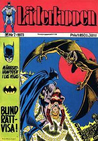 Cover Thumbnail for Läderlappen (Williams Förlags AB, 1969 series) #7/1973