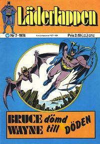 Cover Thumbnail for Läderlappen (Williams Förlags AB, 1969 series) #7/1974