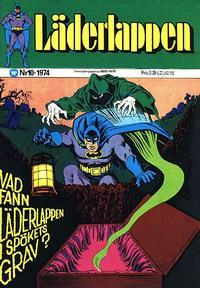 Cover Thumbnail for Läderlappen (Williams Förlags AB, 1969 series) #10/1974