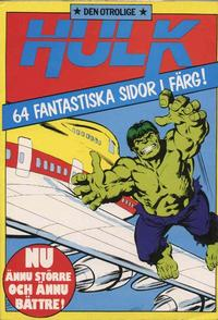 Cover Thumbnail for Hulk album (Atlantic Förlags AB, 1979 series) #7