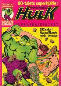 Cover Thumbnail for Hulk pocket (Atlantic Förlags AB, 1979 series) #1