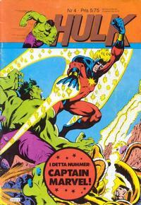 Cover Thumbnail for Hulk (Atlantic Förlags AB, 1980 series) #4/1982