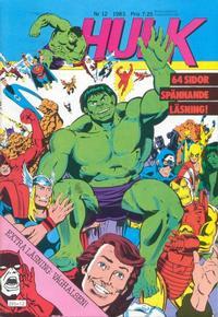 Cover Thumbnail for Hulk (Atlantic Förlags AB, 1980 series) #12/1983