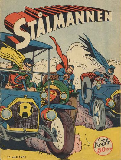 Cover for Stålmannen (Centerförlaget, 1949 series) #34/1951