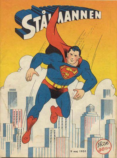 Cover for Stålmannen (Centerförlaget, 1949 series) #36/1951