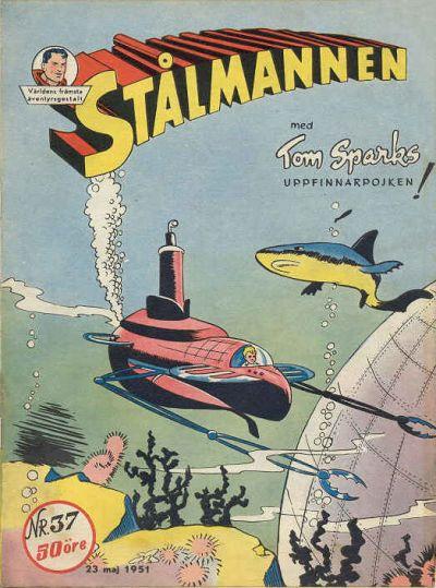 Cover for Stålmannen (Centerförlaget, 1949 series) #37/1951