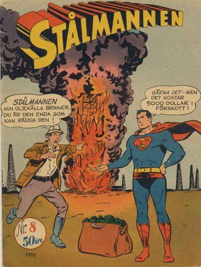 Cover for Stålmannen (Centerförlaget, 1949 series) #8/1953