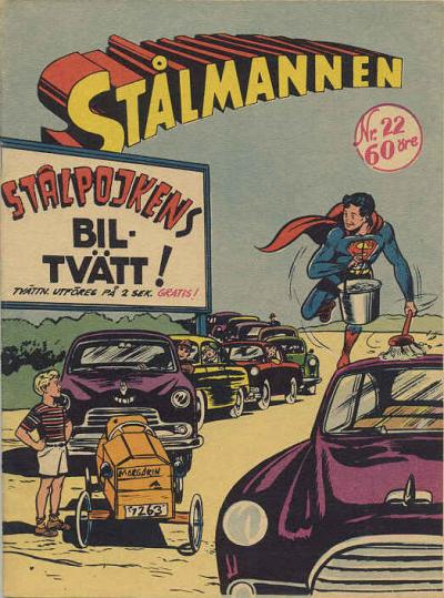 Cover for Stålmannen (Centerförlaget, 1949 series) #22/1956