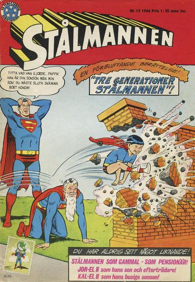 Cover for Stålmannen (Centerförlaget, 1949 series) #12/1966
