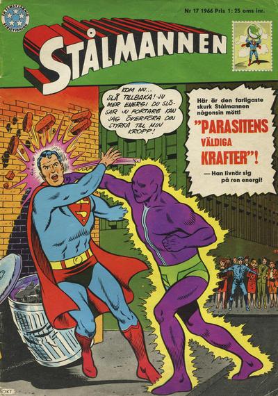 Cover for Stålmannen (Centerförlaget, 1949 series) #17/1966