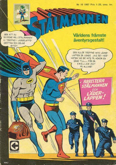 Cover for Stålmannen (Centerförlaget, 1949 series) #10/1967