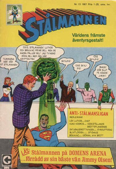 Cover for Stålmannen (Centerförlaget, 1949 series) #13/1967
