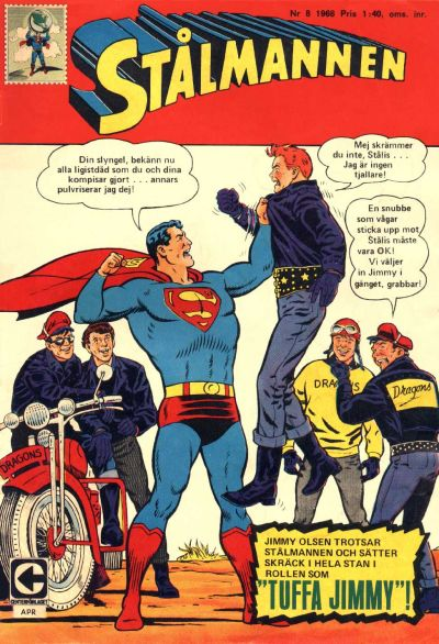 Cover for Stålmannen (Centerförlaget, 1949 series) #8/1968