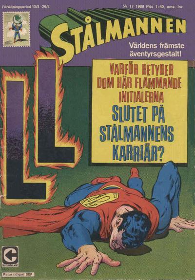 Cover for Stålmannen (Centerförlaget, 1949 series) #17/1968