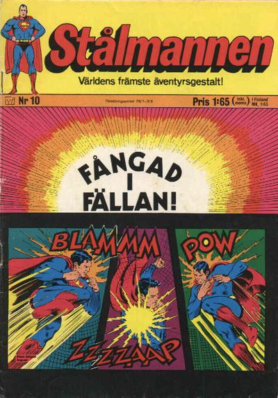 Cover for Stålmannen (Williams Förlags AB, 1969 series) #10/1971